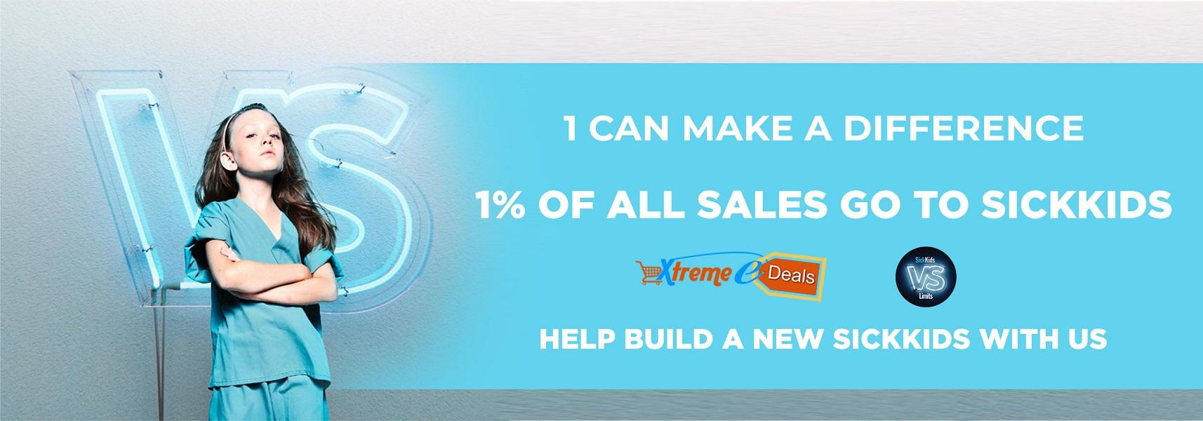 sickkids promotional banner - online retail store - xtreme edeals