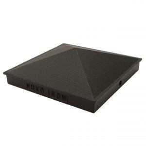 "Nuvo Iron Black 5.5"" x 5.5"" Pyramid Ornamental Aluminium Post Cap Fencing- PCP03"