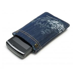 Golla Rivetto Denim Phone Pocket - Dark Blue