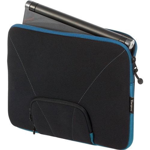 """Targus Slipcase with Mini Pocket Designed for 12"""" Netbooks TSS121US (Black with Blue Accents)"""