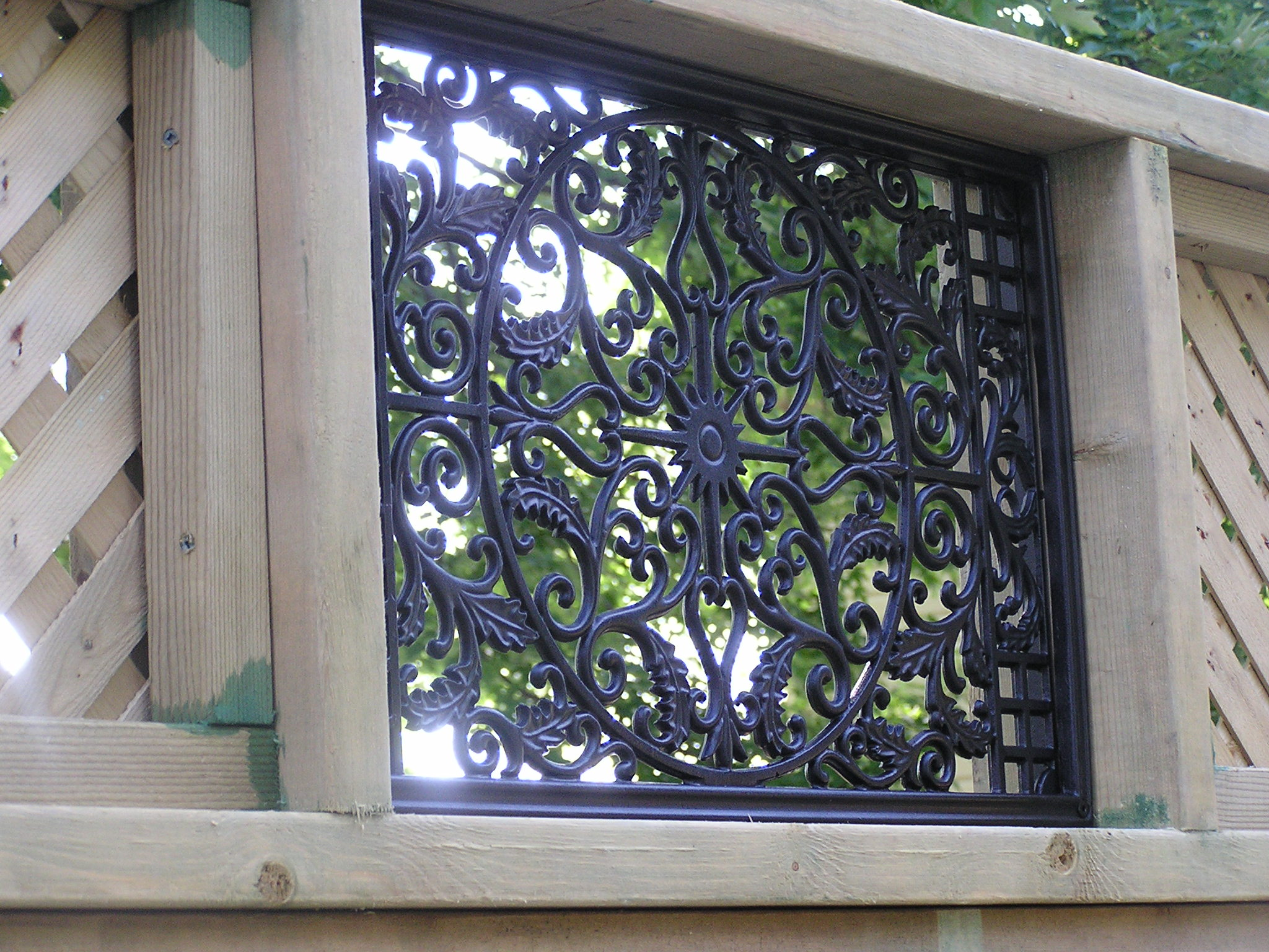 Nuvo Iron Rectangle Decorative Fence Gate Insert Fencing