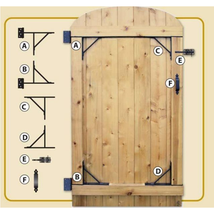 Nuvo Iron Complete Gate Hardware Kit Heavy Duty Hgcbhk01 For 25 To 72 Openings Xtreme Edeals