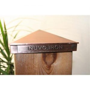 "Nuvo Iron 4.5""x 4.5"" (nominal 5x5"") Pyramid Ornamental Aluminium Post Cap - Copper Plated"
