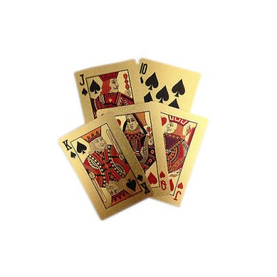 New 24 Karat 999 Gold Plated Playing Cards Full Deck