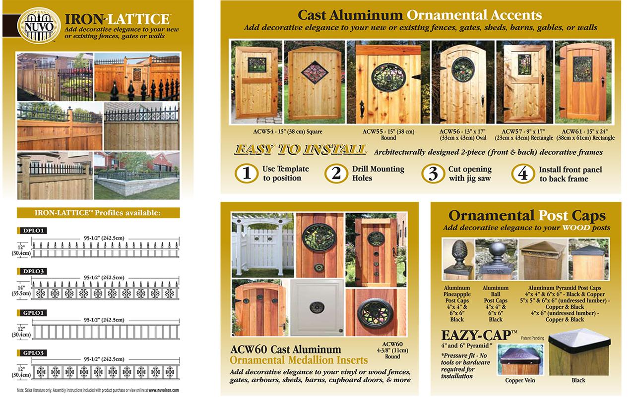 Nuvo Iron Rectangle Aluminum Door Insert 17 Quot X 9 Quot Acw57