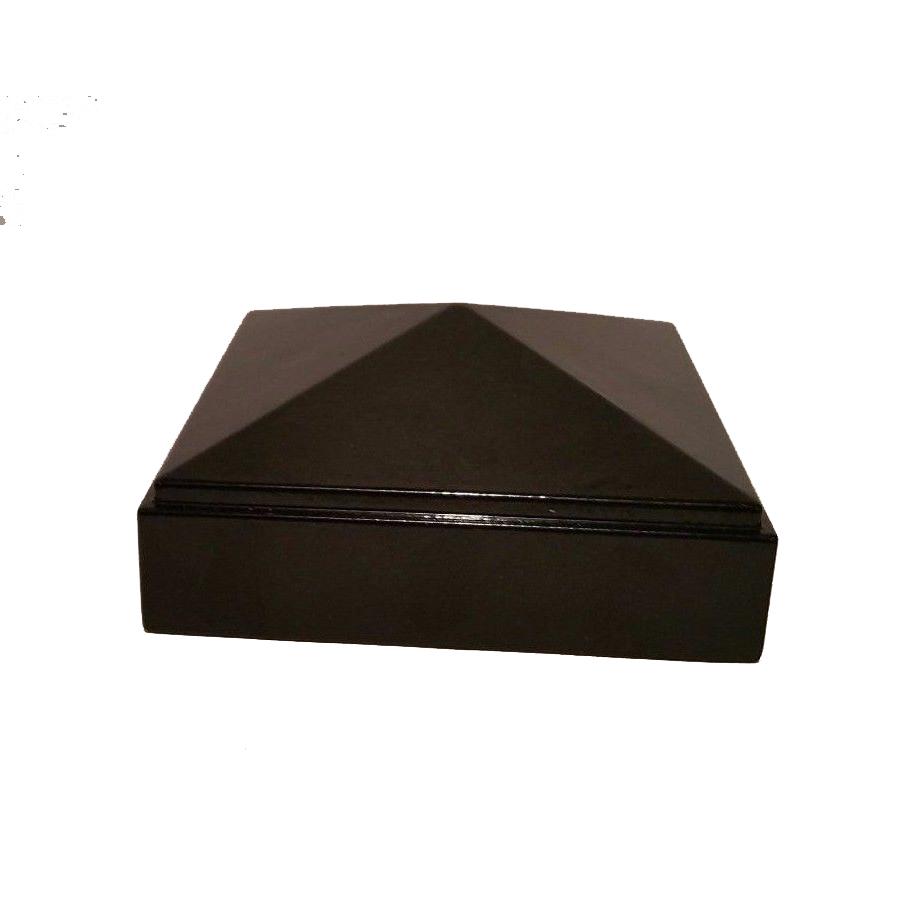 "Nuvo Iron 2 1/2"" x 2 1/2"" Post Cap, Pyramid Ornamental Aluminium for 2 1/2""x 2 1/2 Posts"