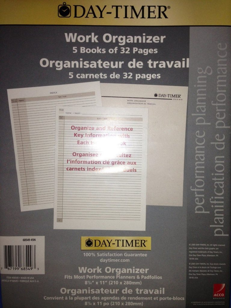 Day-timer Work Organizer