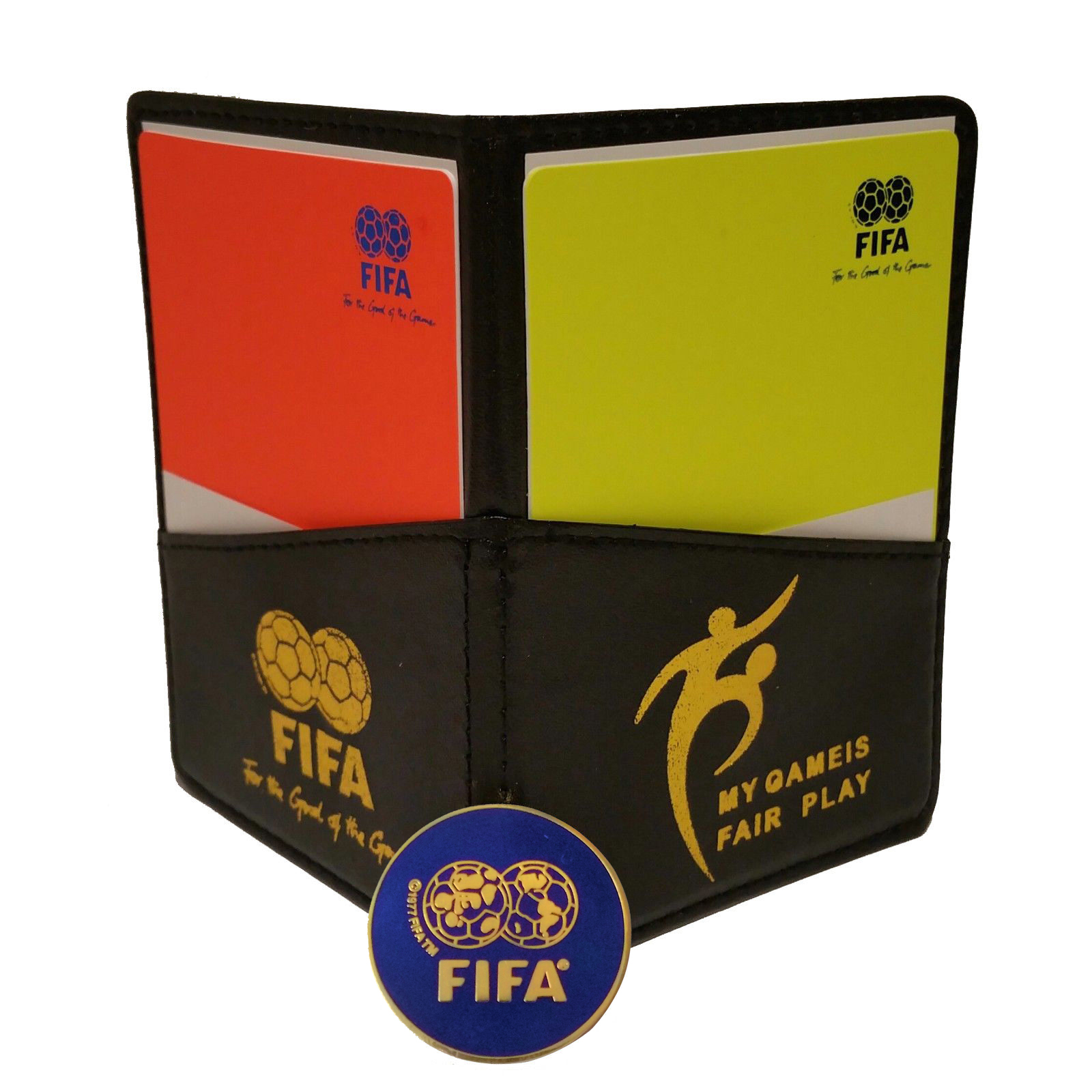 Fifa Football Soccer Referee Wallet With Red And Yellow Cards Game