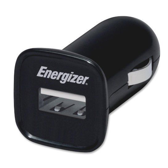 Energizer Car Charger with Cable Car Outlet/Apple-Certified Dock Connector