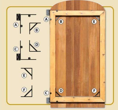 4 x brackets Iron gate hinge bracket with 10 mm pin 4 x gate eyes and 2 collar