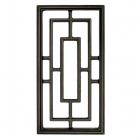 "Nuvo Iron Rectangle Aluminum Door Insert 17"" X 9"" ACW57"