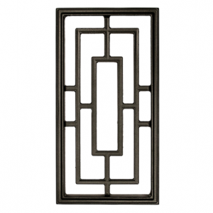 "Nuvo Iron Rectangle Aluminum Door Insert 17"" X 9"" ACW57"