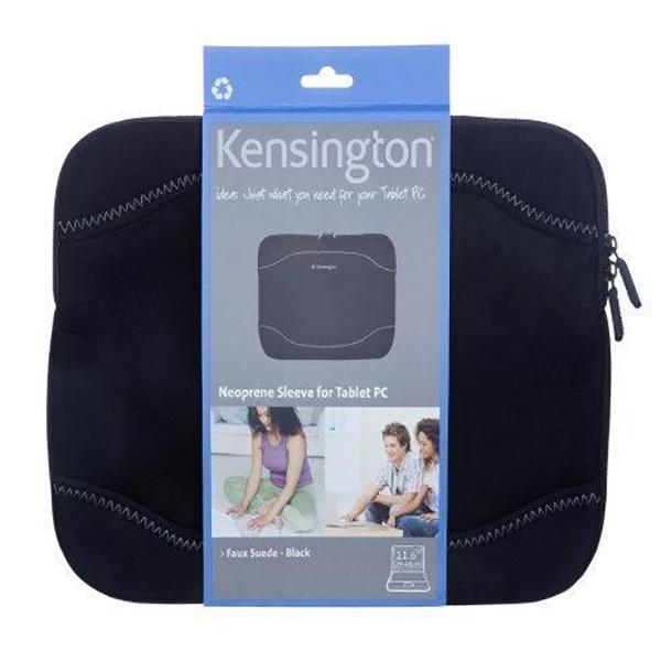 """Kensington Neoprene Netbook Sleeve- Faux Suede -Black 10.1""""-11.6"""" New!"""