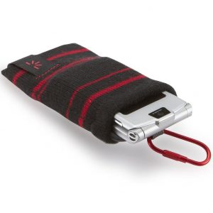 Case Logic UKP-2 Universal Knit Pocket (Black/Red)