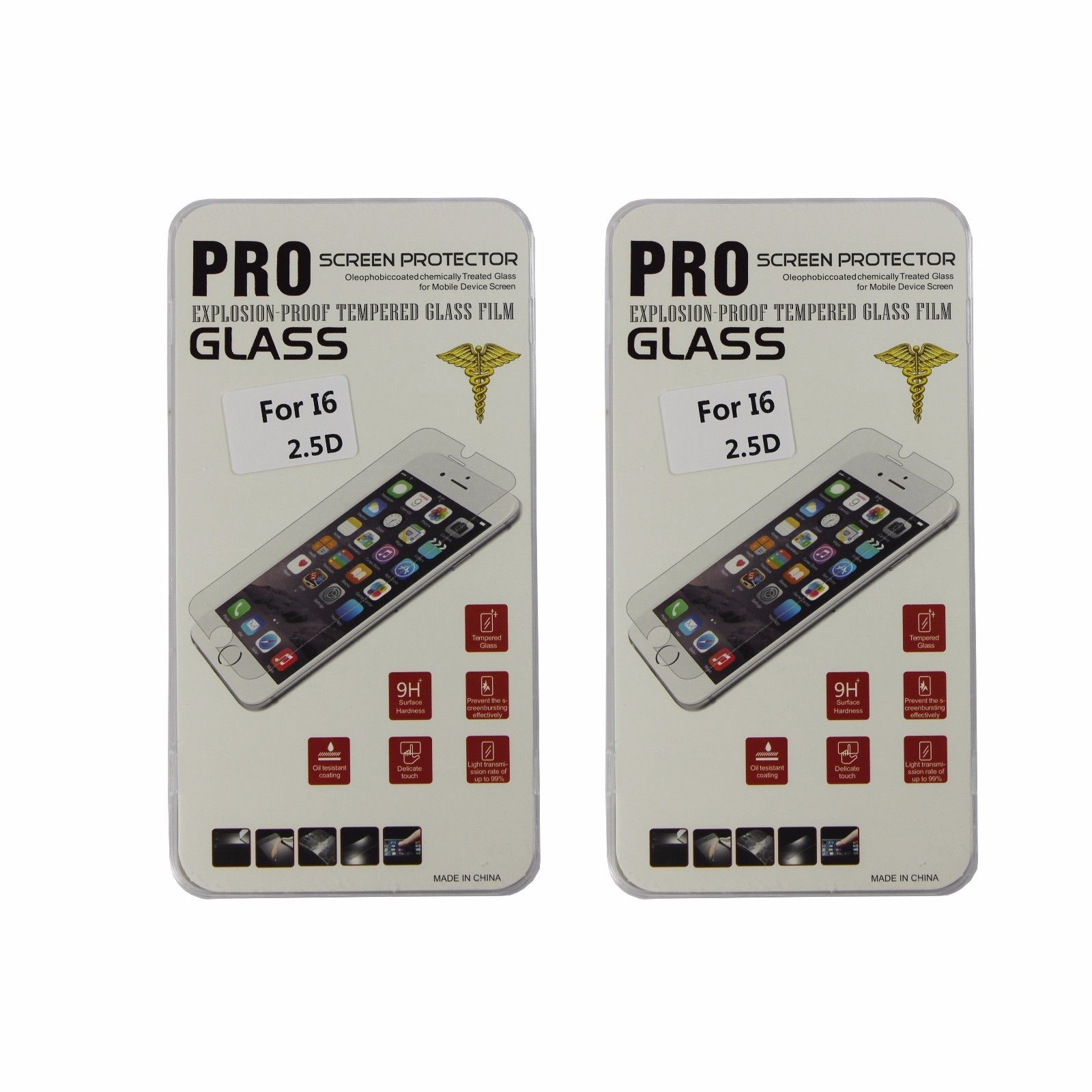 Premium Tempered Glass Screen Protector for iPhone 6