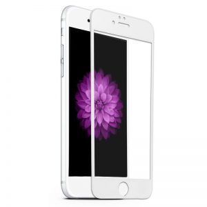 Nuglas 0.3mm 3D Tempered Glass Full Screen Protector White