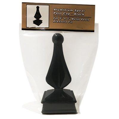 for 2 x 2 Metal Post Cast Aluminum Black Nuvo Iron Decorative Spear Post Cap