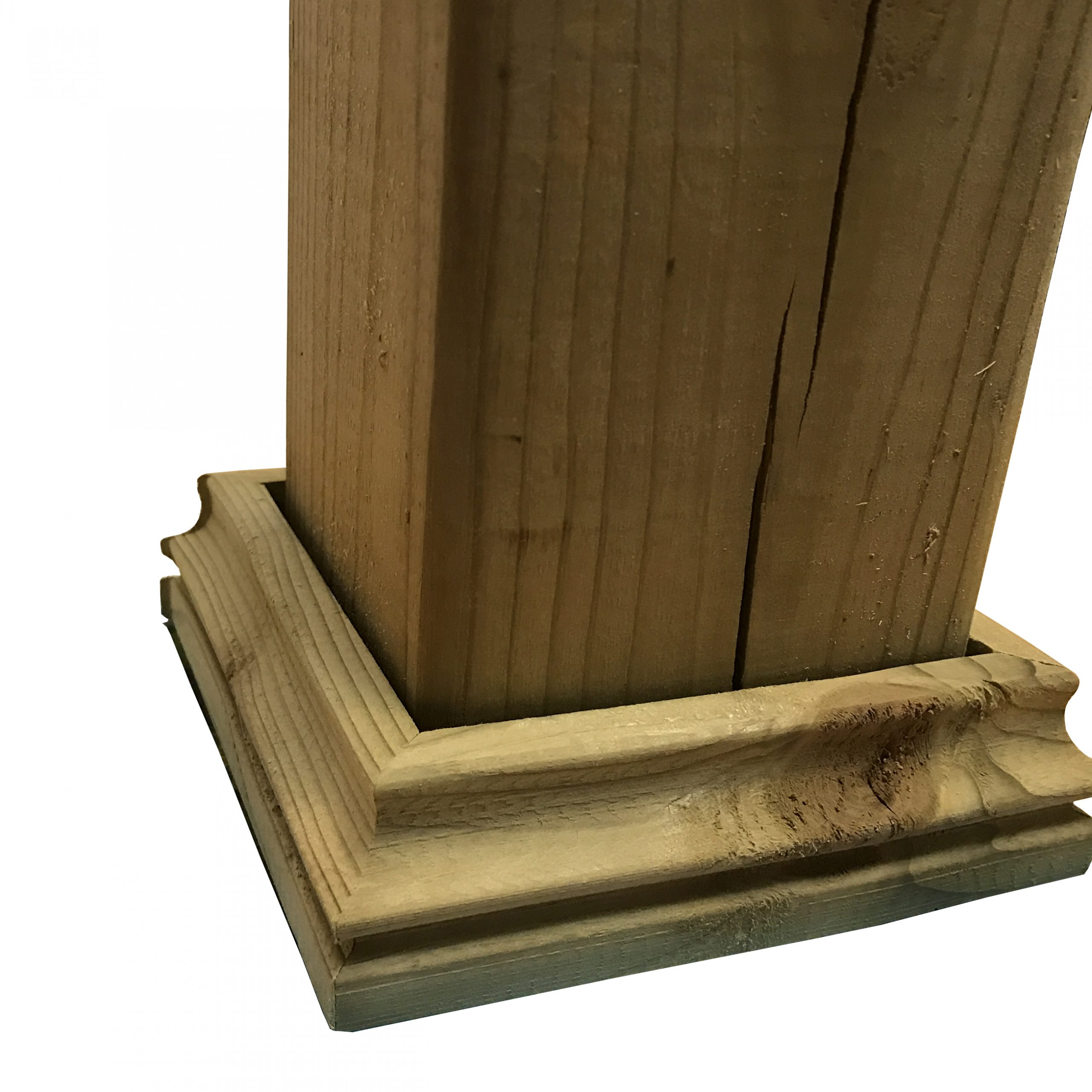Cambium Pressure Treated Wood Decorative Post Base For