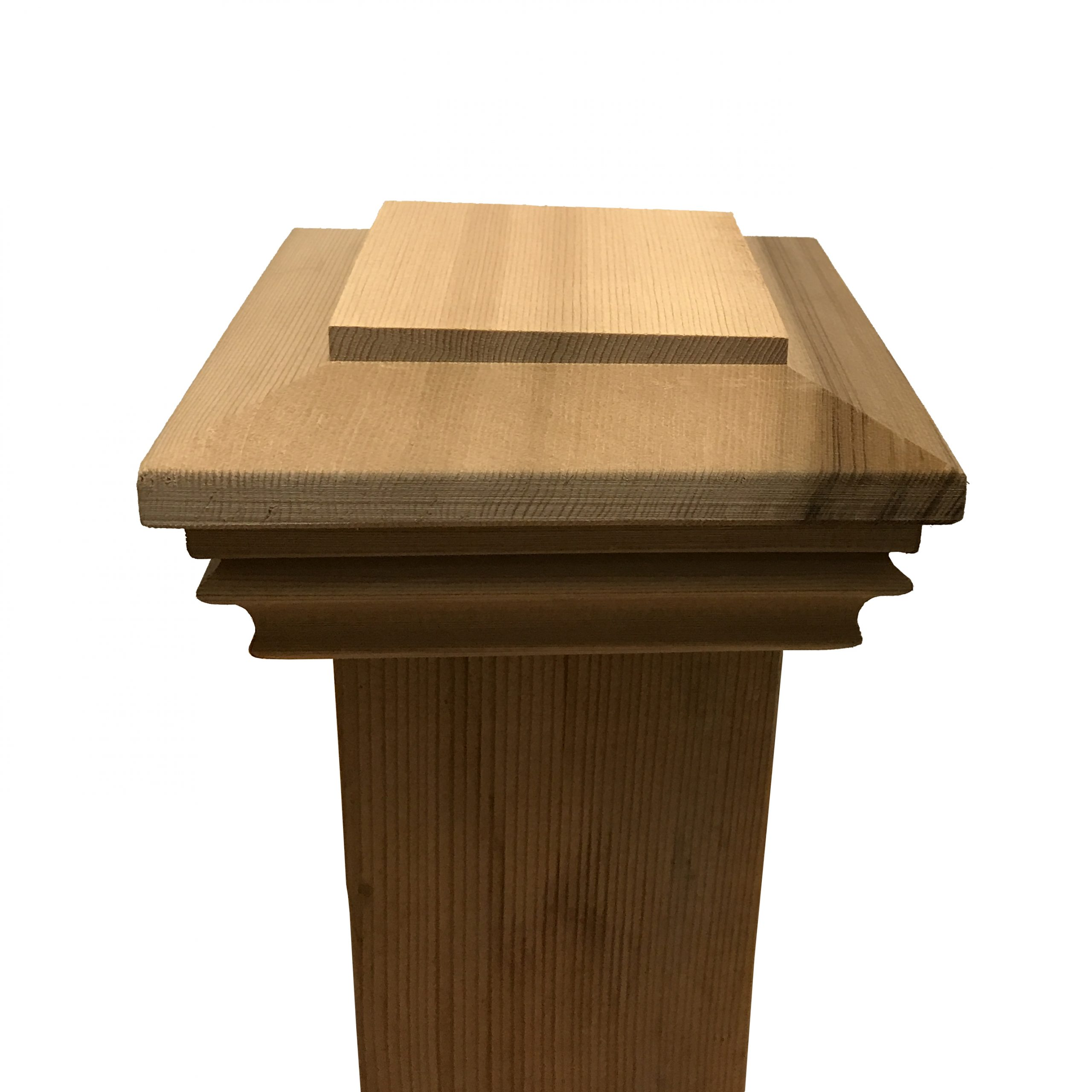 """Cedar Plateau Wood Post Cap for 3.5"""" x 3.5"""" Fence and Deck Posts"""