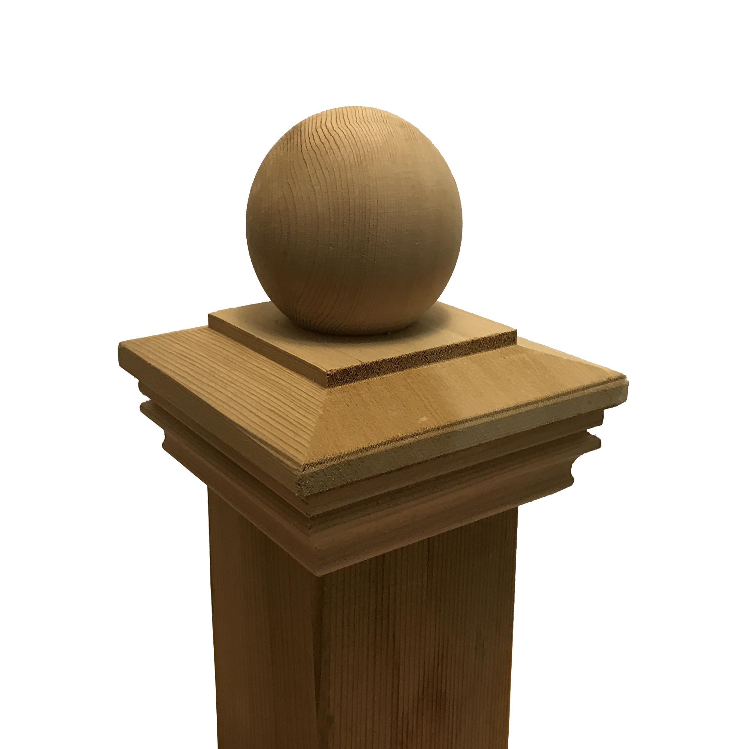 Cedar Wood Garabaldi Ball Post Cap