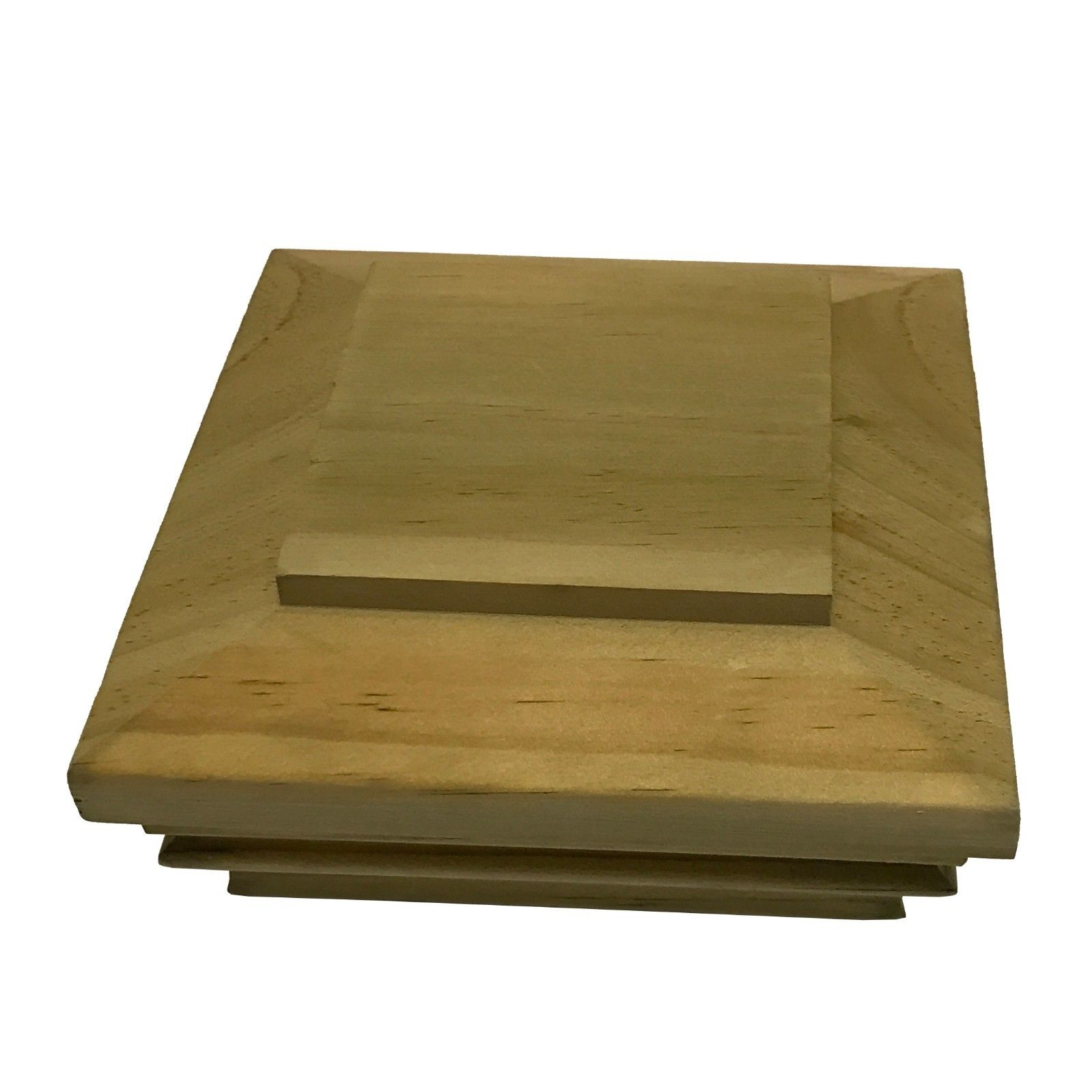 """Pressure Treated Plateau Wood Post Cap for 3.5"""" x 3.5"""" Fence and Deck Posts"""
