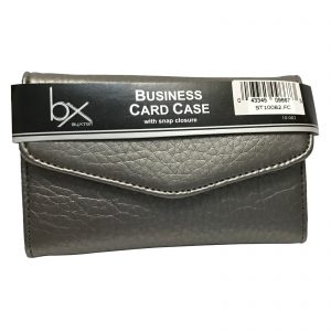 Buxton Business Card / Credit Card Case / Wallet - Silver