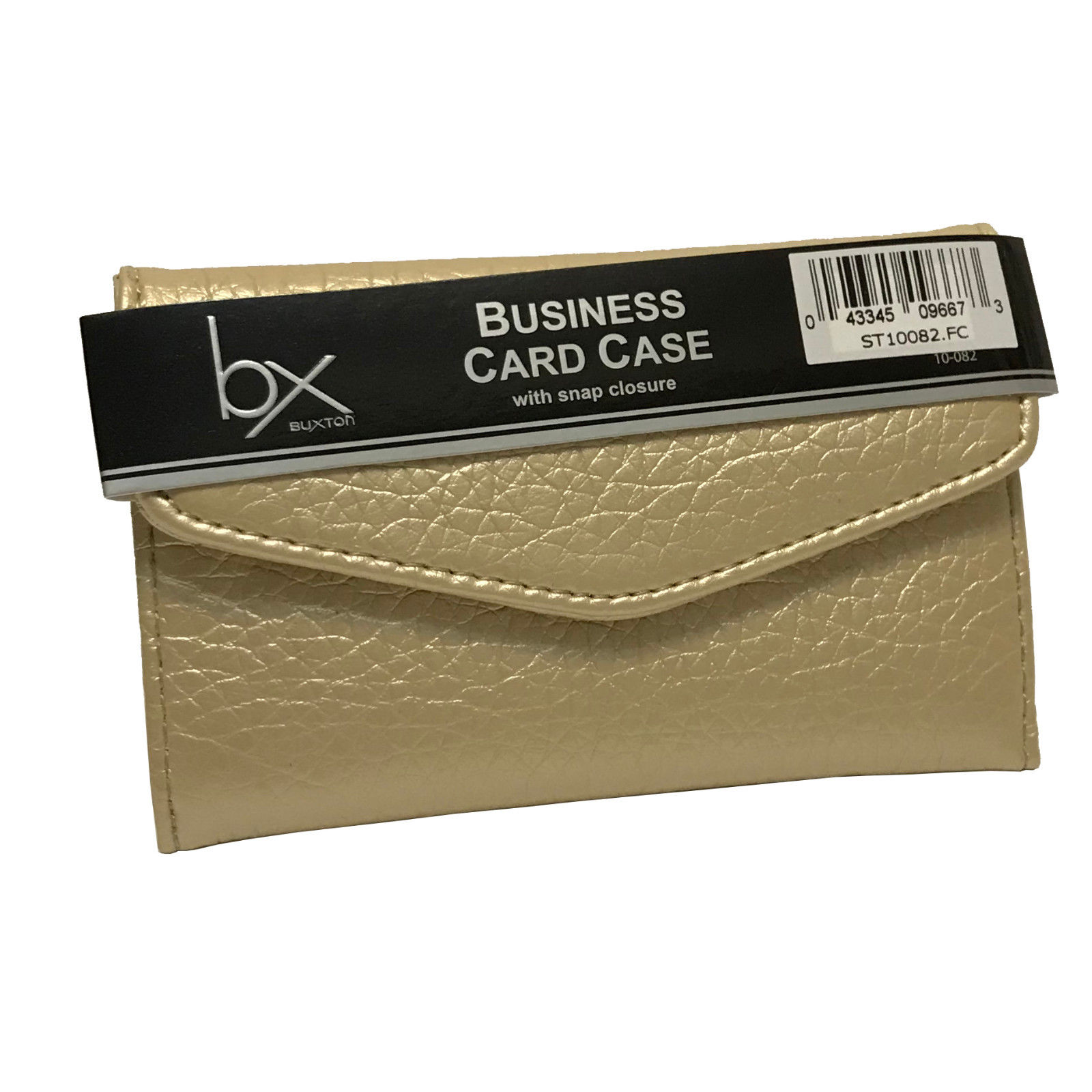 Buxton Business Card / Credit Card Case / Wallet - Gold