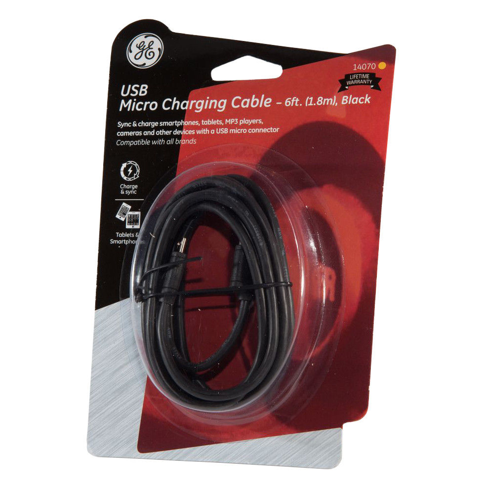 General Electric 6-FT Micro USB Charging Cable