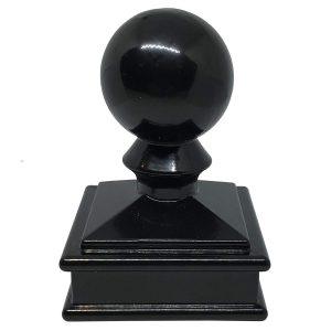 """Aluminum 2"""" x 2"""" Ball Post Cap"""