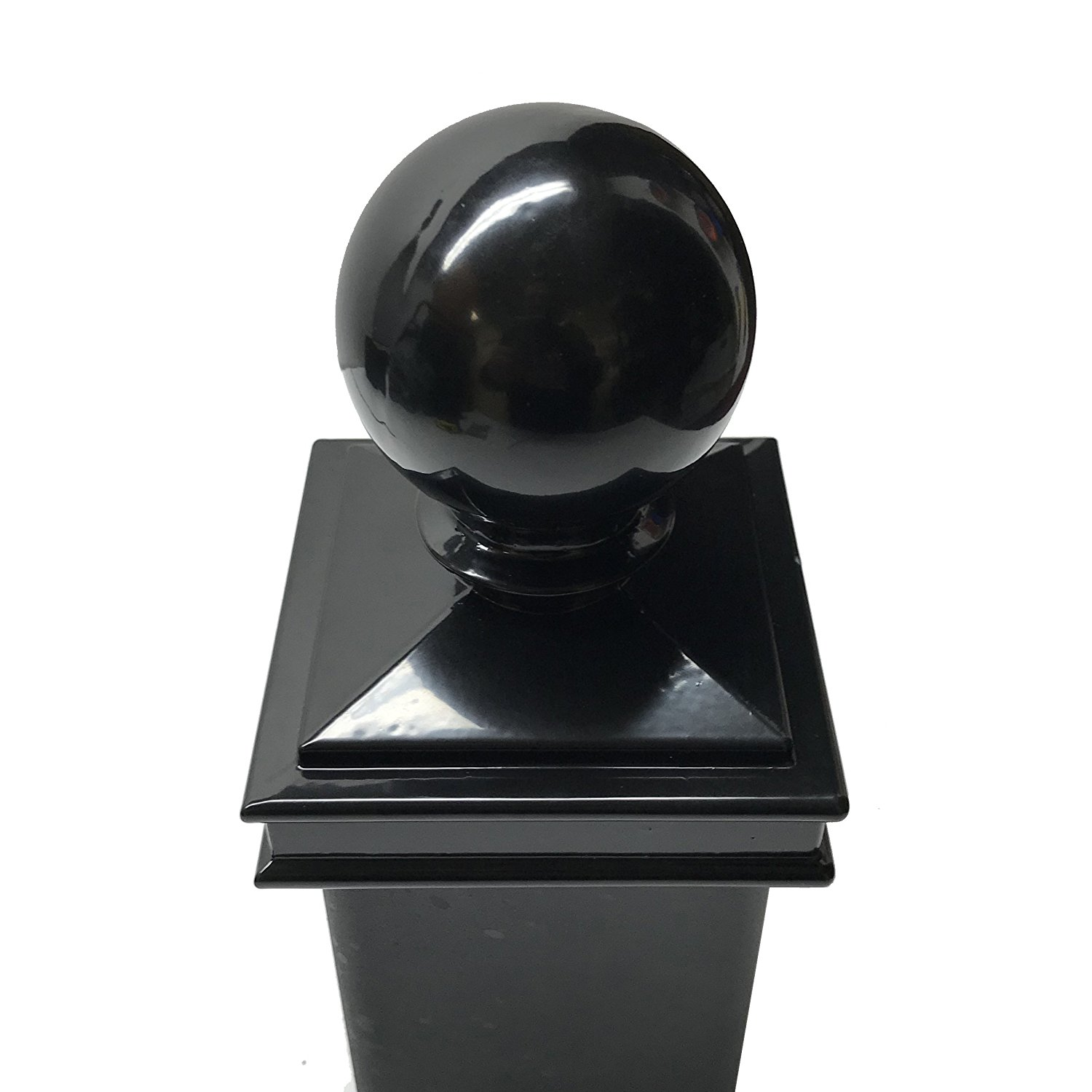 "Decorex Hardware Aluminium 3"" x 3"" Black Ball Post Cap For 3"" x 3 Metal Posts - Pressure Fit"