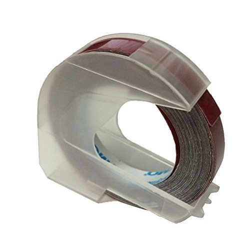 Dymo Embossing Tape, 0.25 Inches - Red Glossy (10 Pack)
