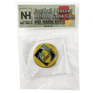 Football / Soccer Referee Game Flip/Toss Coin with Plastic Sleeve NH-C-02