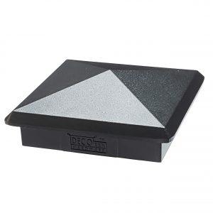 "Decorex Hardware 3.5"" x 3.5"" Black Aluminium Pyramid Fence Post Cap Heavy Duty for Actual 3.5"" x 3.5"" Wood Posts - Black"