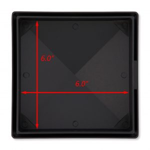 """Decorex Hardware True 6"""" x 6"""" Aluminium Pyramid Post Cap Heavy Duty for True/Actual 6"""" x 6"""" Wood Posts - Black (Works ONLY with Actual 6"""" x 6"""" Posts. Will NOT Work with Actual 5.5"""" x 5.5"""" Posts)"""