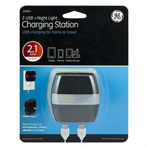 GE 2 USB (2.1A) + Night Light Charging Station - 13450