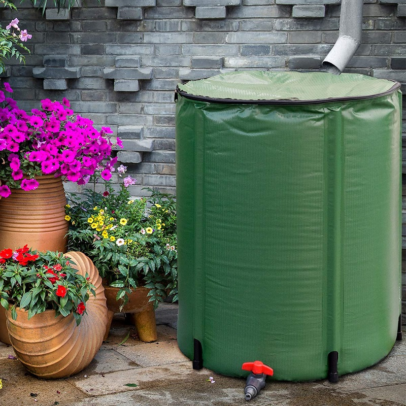 Goplus 50 Gallon Portable Rain Barrel Water Collector 800