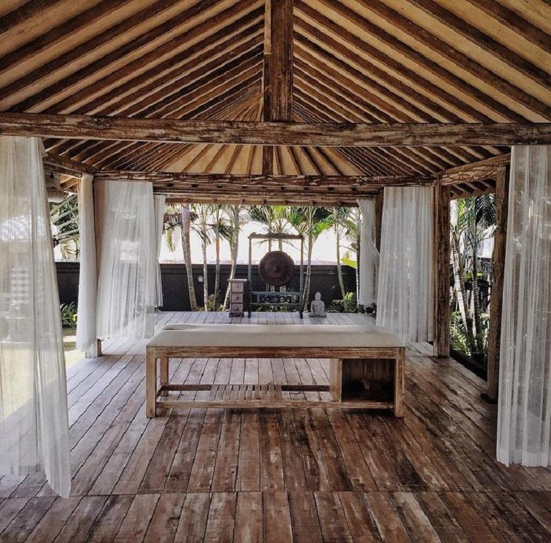 massage table winter deck ideas