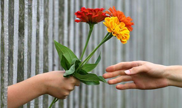 hand flowers