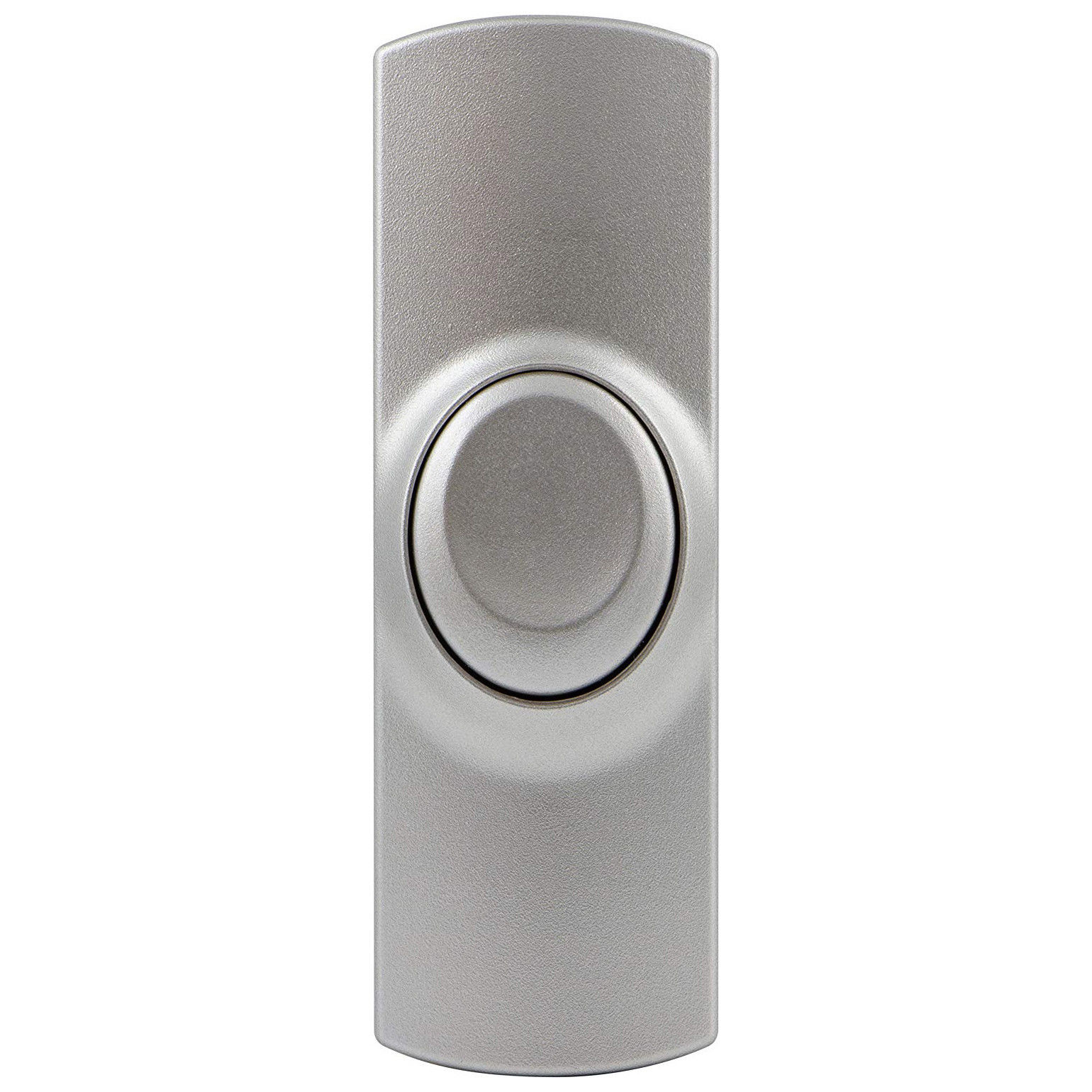 Picture of: Ge Wireless Push Button Works With Battery Plug In Door Chimes Silver Xtreme Edeals