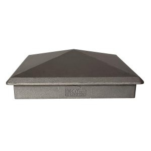 "True 6"" x 6"" Heavy Duty Aluminium Pyramid Post Cap for Wood Posts"