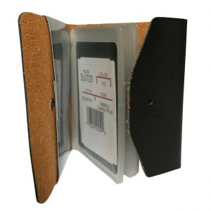 Buxton Pocket Business Card File - 24 Card Slots - Black