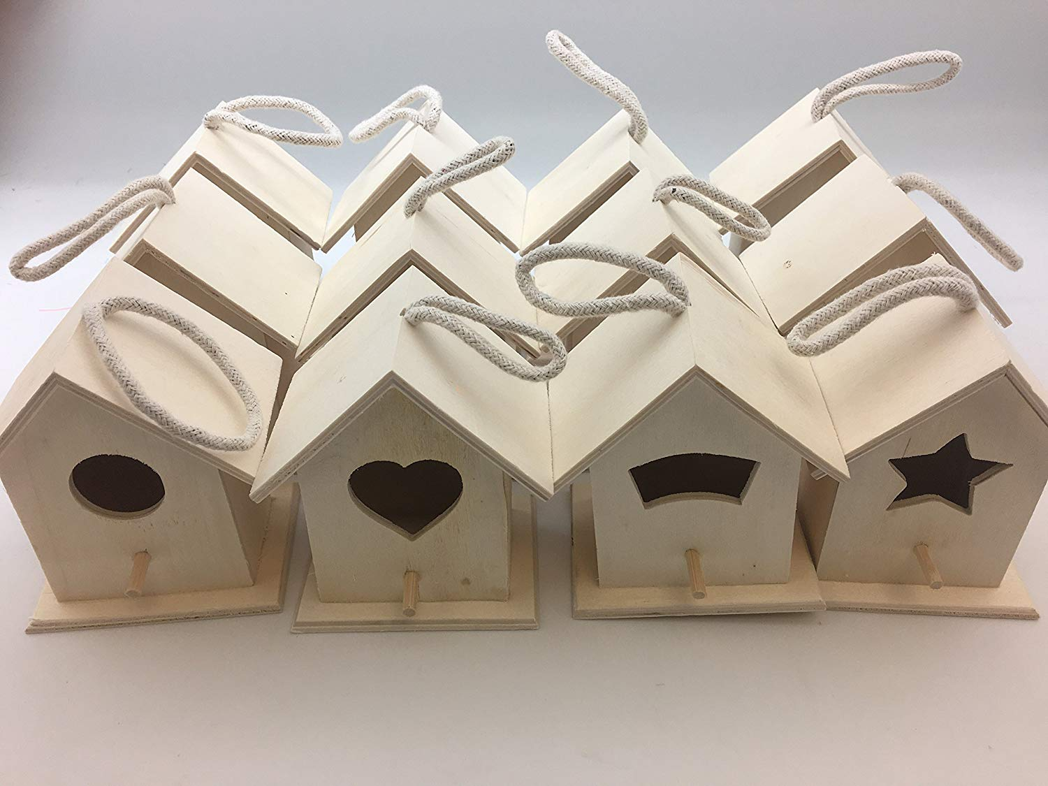 Oojami Design Your Own Wooden Birdhouses 12 Bird House Bulk
