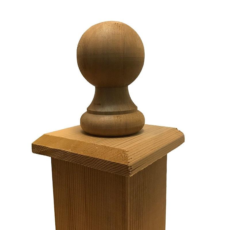 cedar post cap - wooden 800