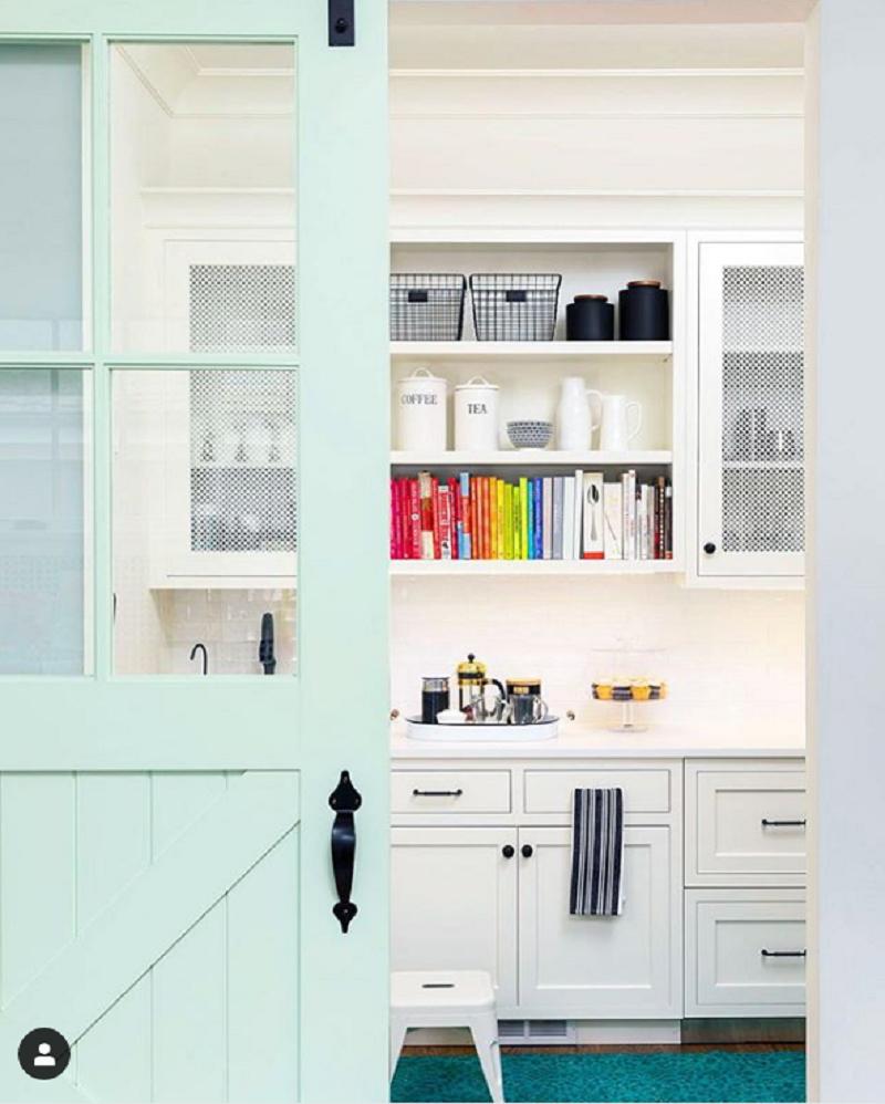 brass class - white kitchen cabinet