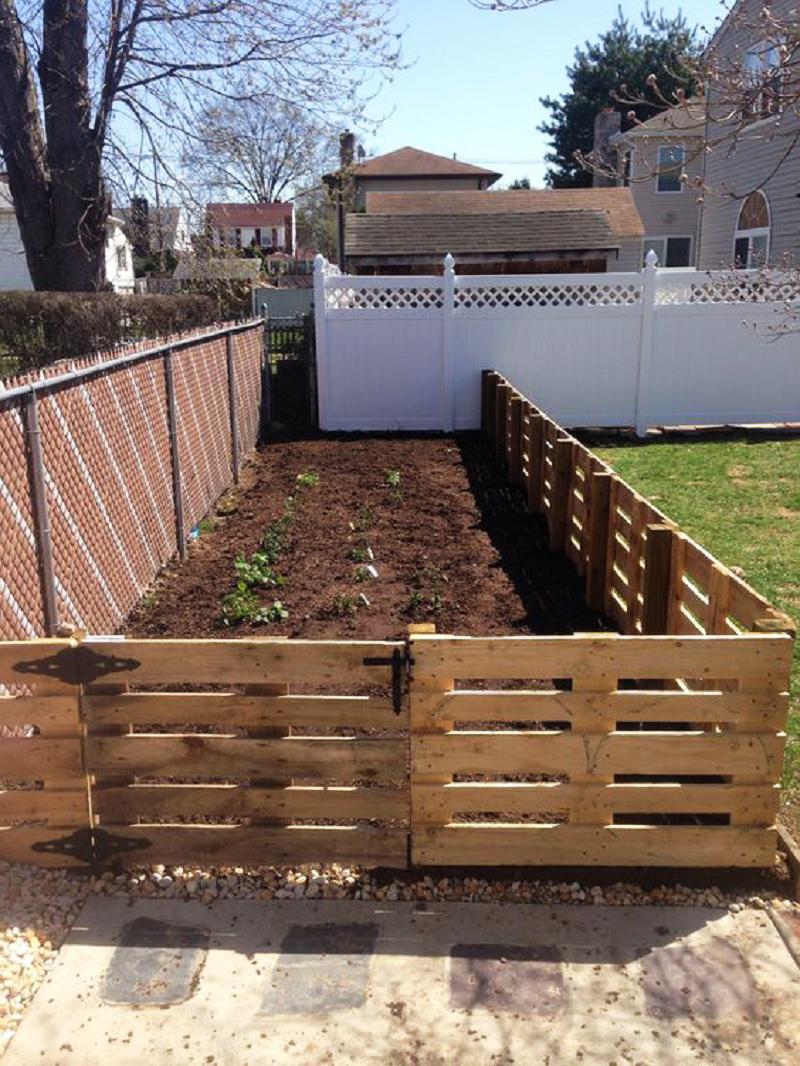 pallet fence - garden