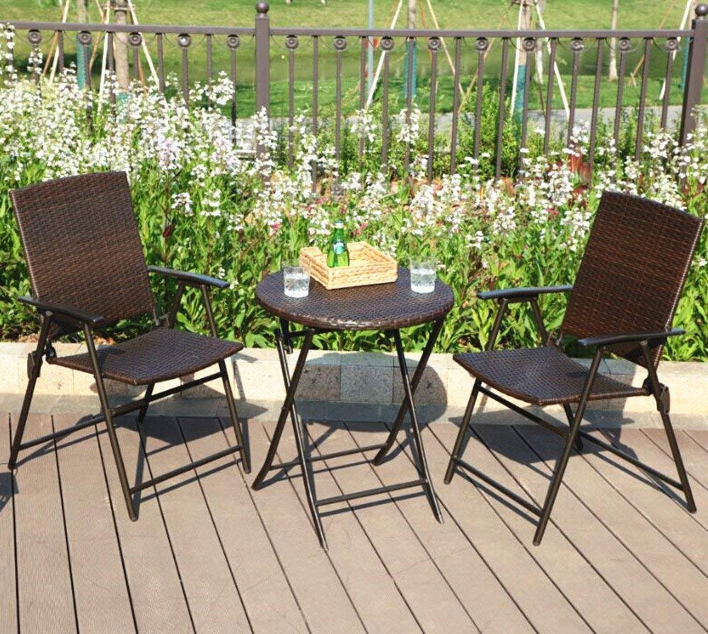 wicker chairs - table