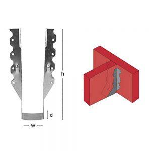 """Joist Hanger 6""""x8-10"""" (50 Pack)"""