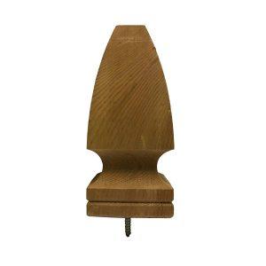 Cedar Wood Gothic Top Finial