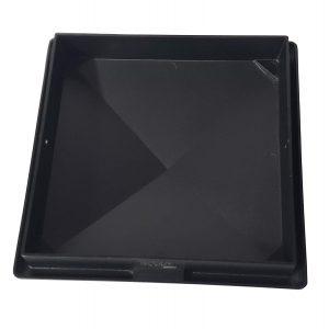 "Decorex Hardware 8"" x 8"" Heavy Duty Aluminium Pyramid Post Cap for Actual 8"" x 8"" Wood Posts - Black"