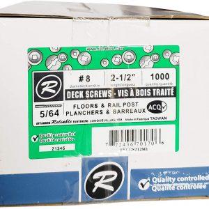 """Deck Screws #8 x 2-1/2"""" (1000pack)"""